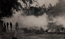 The Old thatched Fox Inn was completely destroyed by fire in 1946